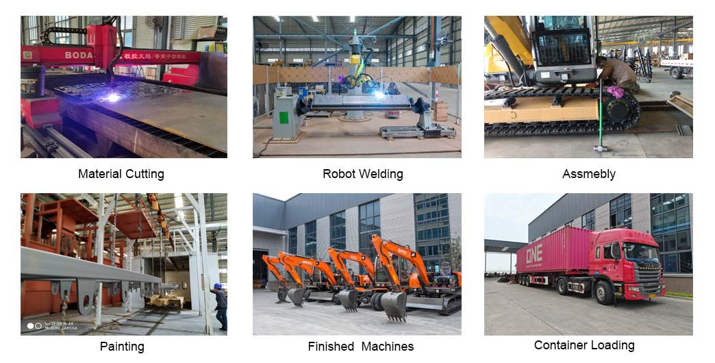 Process of excavator of Chinese excavator supplier (JingGong)