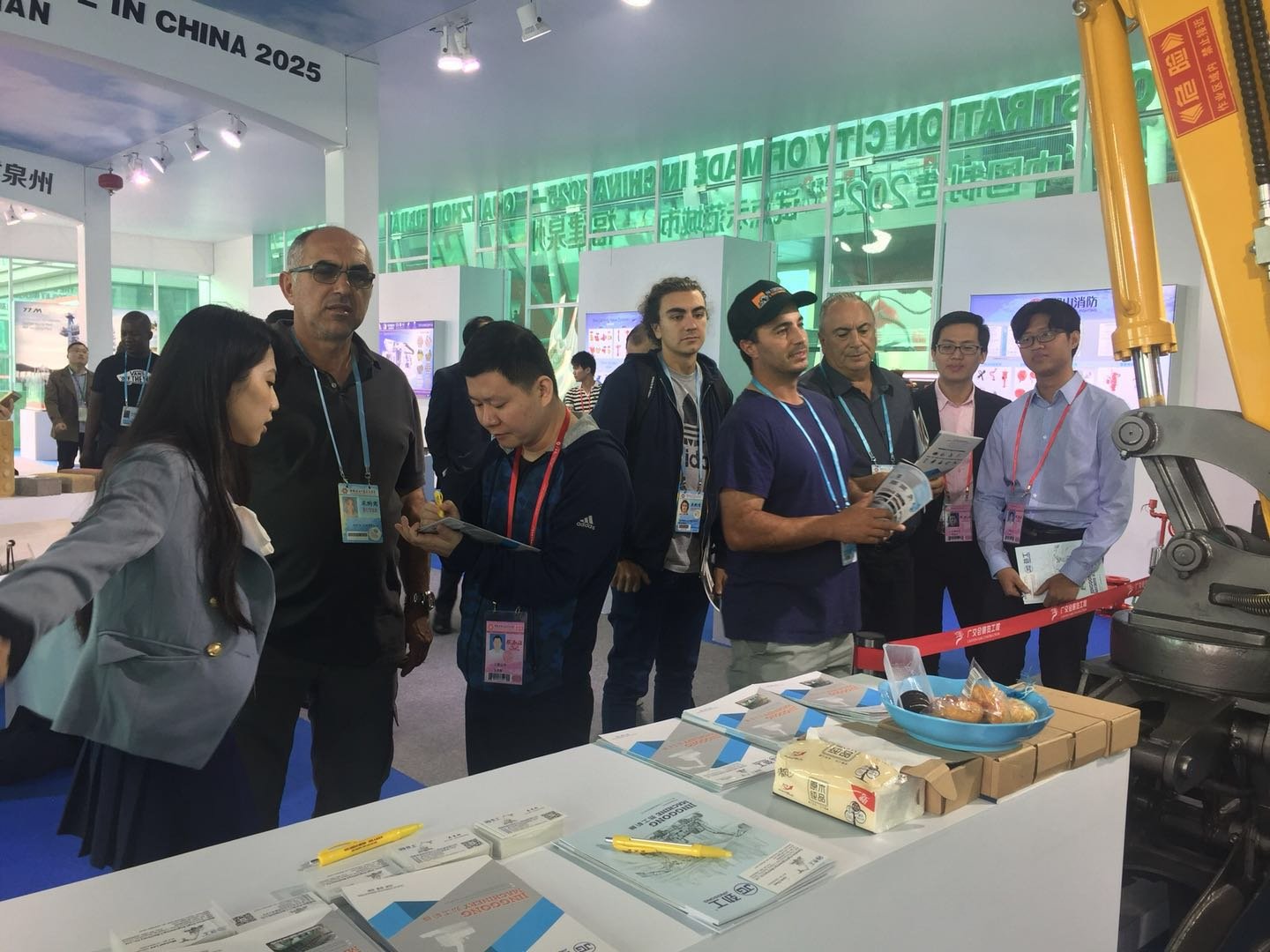 JingGong hydraulic machine manufacturer attends the 123th Canton Fair in 2018